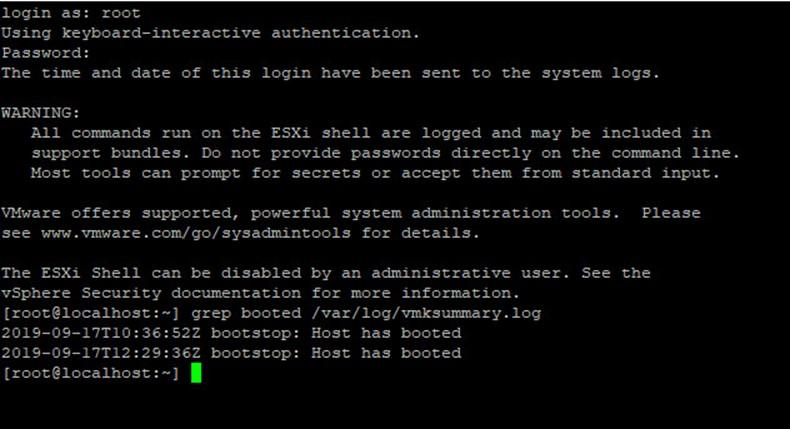 VMware ESXI Sunucu/Host Restart Bilgisi Öğrenme